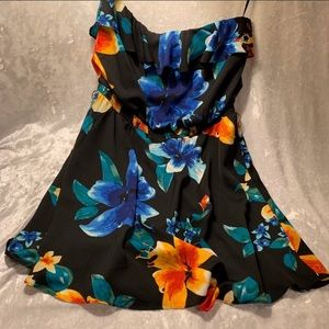 White House Black Market tropical floral dress L
